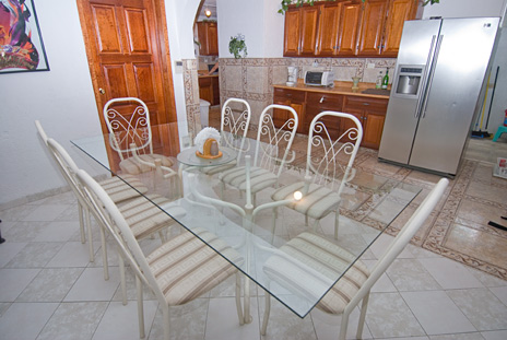 Dining room of  Casa Jen Cozumel vacation rental home