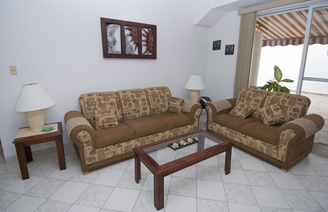 Living room of Casa Jen  vacation rental villa on the island of Cozumel