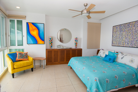 Bedroom #1 of Nah Ha 702 3 BR Cozumel vacation rental condo