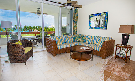 Living area of Residencias Reef 7330 Cozumel vacation rental condo