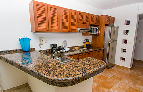 Kitchen of RR 8380 Cozumel vacation rental condo