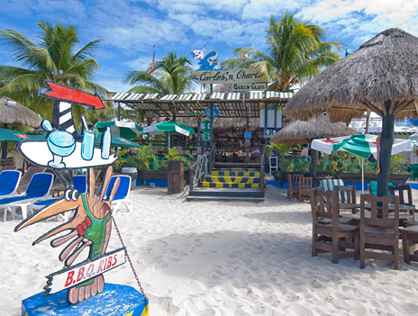Restaurants on San Francisco Beach, Paradise Beach, Carlos and Charlies Beach Cozumel Mexico