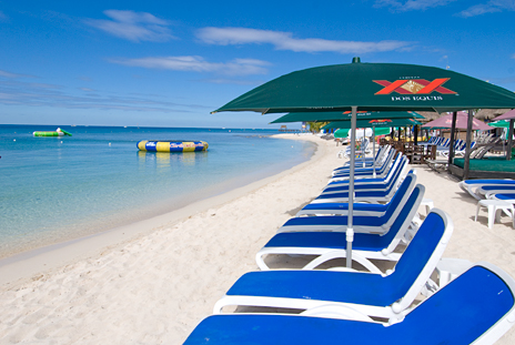 San Francisco Beach, Paradise Beach, Carlos and Charlies Beach Cozumel Mexico
