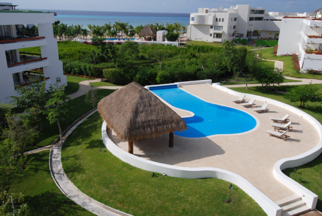 View of Pool 2  at Residencias Reef Cozumel